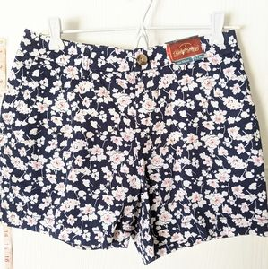 *NEW* FADED GLORY  LADIES SIZE 4  FLOWERED SHORTS